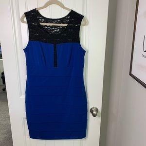 Enfocus women lace detail tiered sleeveless dress